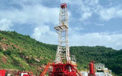MOUNTAINOUS DRILLING RIG