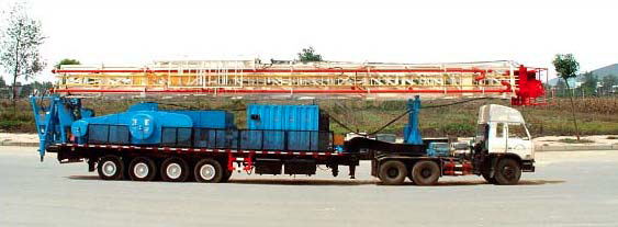 TRAILER‐MOUNTED DRILLING RIG
